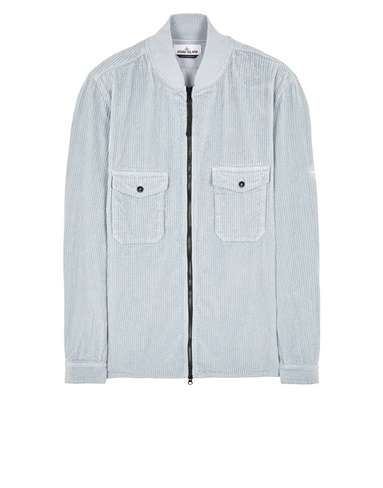 STONE ISLAND 11611 COTTON CORDUROY Long sleeve shirt Man Pearl Gray