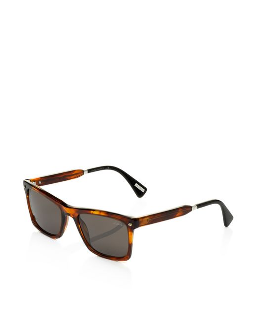 lanvin squared frame sunglasses men