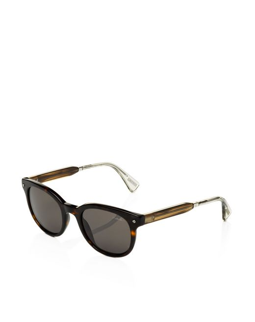 lanvin round frame sunglasses men