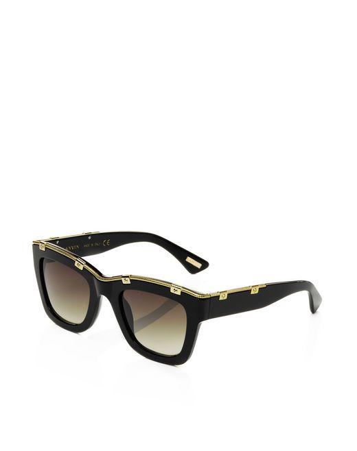 lanvin squared frame sunglasses women