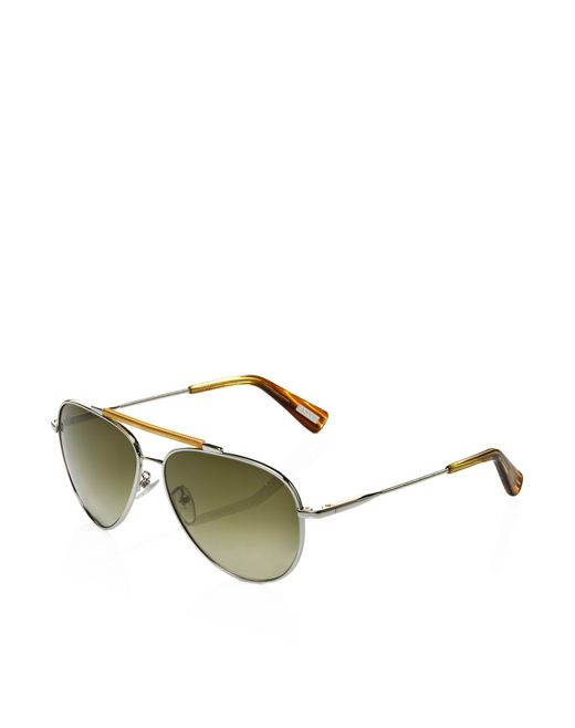 lanvin pilot frame sunglasses men