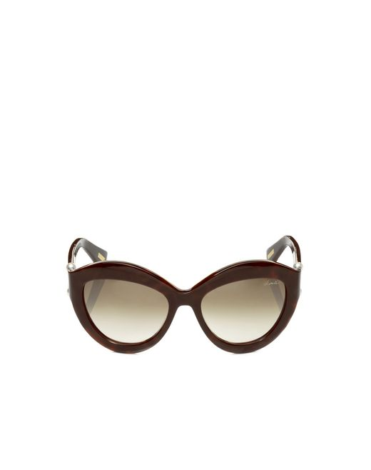 lanvin cat-eye frame sunglasses women