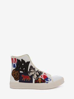 Hochgeschlossene Schnür-Sneakers