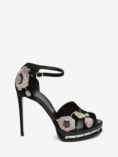 Sandale avec plateau en métal