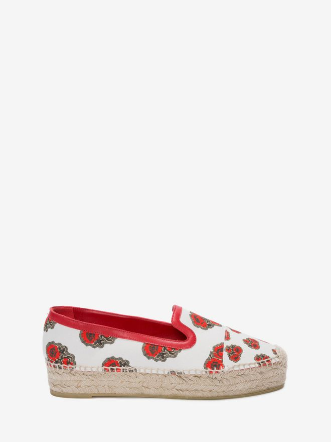 Alexander McQueen Printed Espadrille Flats discount 2014 with paypal for sale free shipping footlocker for sale sale online from china sale online Il74c