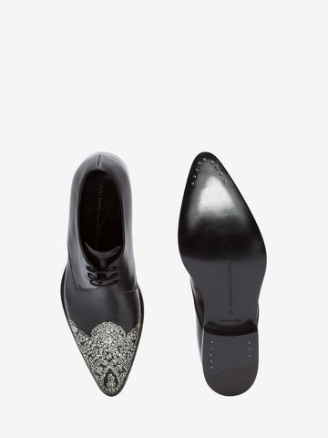 ALEXANDER MCQUEEN Embroidered Derby Lace-Up Lace Ups U e