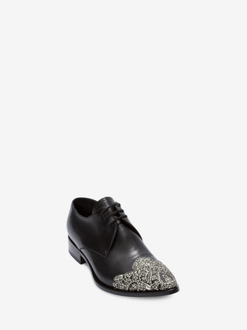 ALEXANDER MCQUEEN Embroidered Derby Lace-Up Lace Ups U r