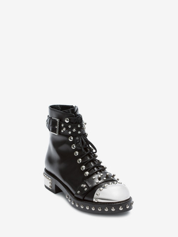 ALEXANDER MCQUEEN Hobnail Ankle Boot ホブネイルブーツ レディース r