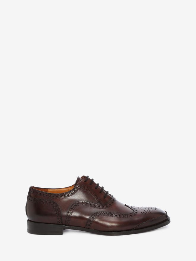 ALEXANDER MCQUEEN Leather Oxford Brogue Lace Ups U f