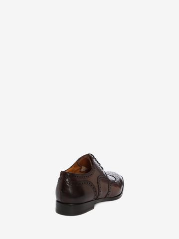 ALEXANDER MCQUEEN Leather Oxford Brogue Lace Ups U d