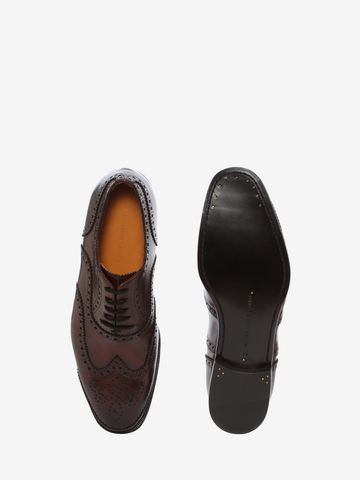 ALEXANDER MCQUEEN Leather Oxford Brogue Lace Ups U e