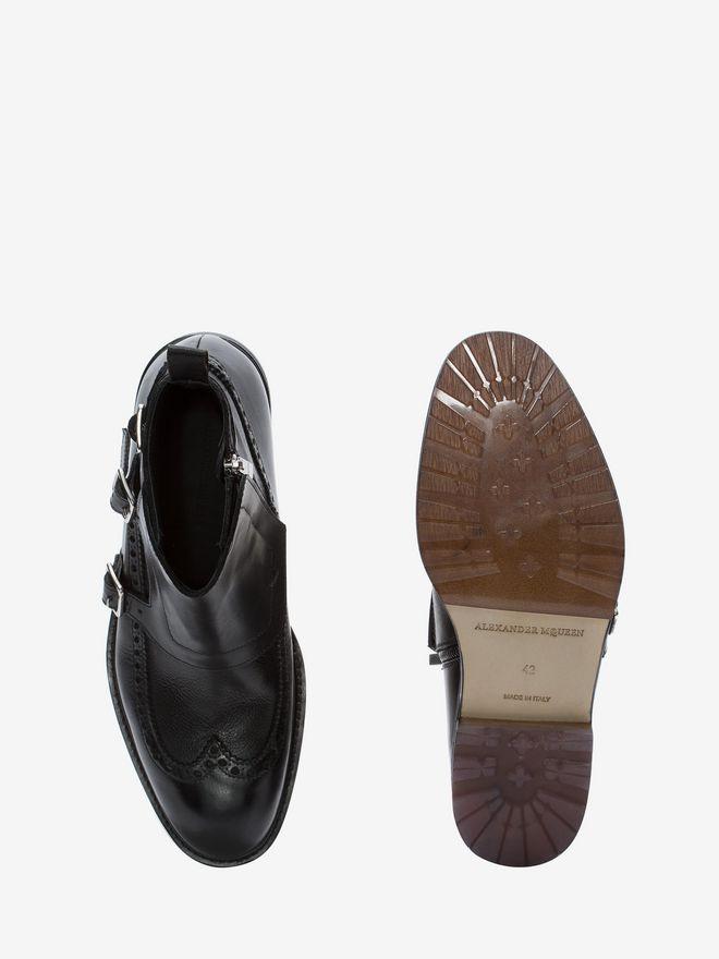ALEXANDER MCQUEEN Buckle Monk-Strap Boot Boots U e