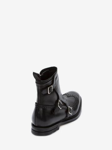 ALEXANDER MCQUEEN Buckle Monk-Strap Boot Boots U d