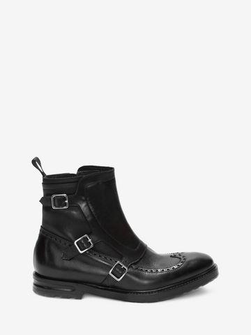 ALEXANDER MCQUEEN Buckle Monk-Strap Boot Boots U f