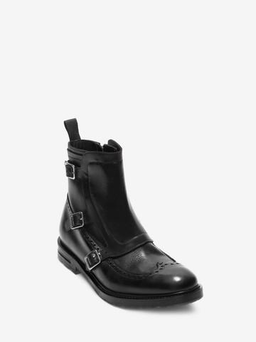ALEXANDER MCQUEEN Buckle Monk-Strap Boot Boots U r