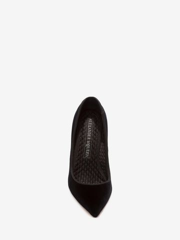 ALEXANDER MCQUEEN Velvet Pump HEART POINTY PUMP Woman e