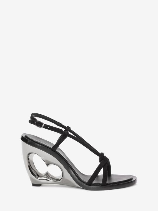 ALEXANDER MCQUEEN Sculpted Wedge Sandal Sandals D f