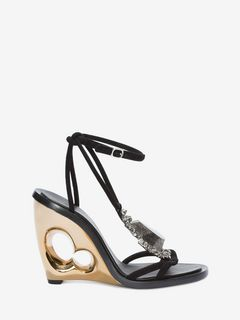 Sculpted Wedge Stone Sandal
