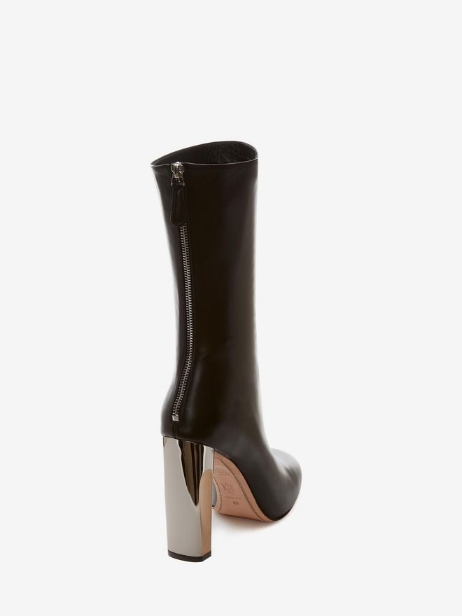 ALEXANDER MCQUEEN Bi-Color Sculpted Heel Fitted Bootie Boots D d