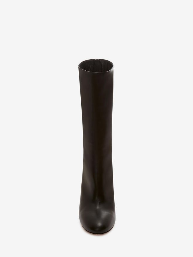 ALEXANDER MCQUEEN Bi-Color Sculpted Heel Fitted Bootie Boots D e