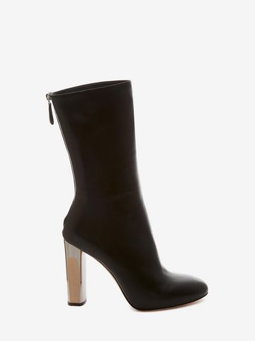 ALEXANDER MCQUEEN Bi-Color Sculpted Heel Fitted Bootie Boots D f