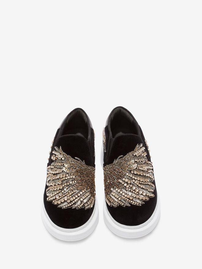 ALEXANDER MCQUEEN Embroidered Slip-On Sneaker Sneakers D e