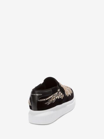 ALEXANDER MCQUEEN Embroidered Slip-On Sneaker Sneakers D d