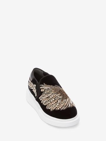 ALEXANDER MCQUEEN Embroidered Slip-On Sneaker Sneakers D r
