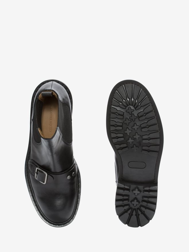ALEXANDER MCQUEEN Chelsea Buckle Boot Boots Man e