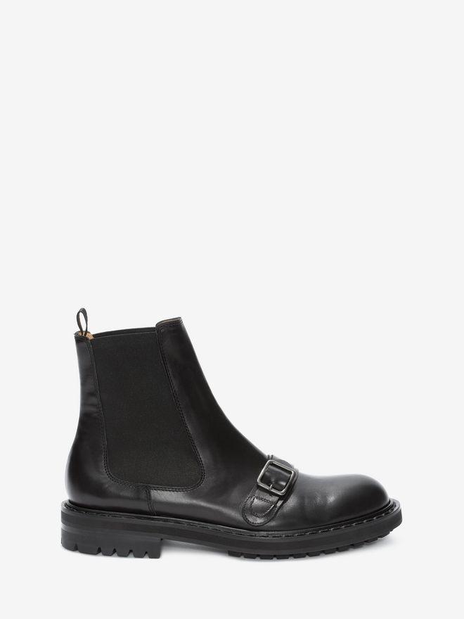 ALEXANDER MCQUEEN Chelsea Buckle Boot Boots Man f