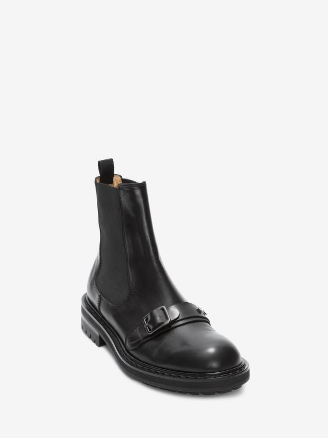ALEXANDER MCQUEEN Chelsea Buckle Boot Boots Man r