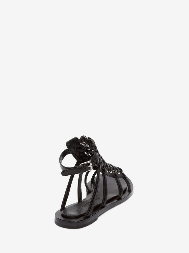 ALEXANDER MCQUEEN Braided Chain Sandal Flat Sandal Woman d