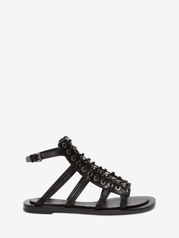 ALEXANDER MCQUEEN Braided Chain Sandal Flat Sandal Woman f