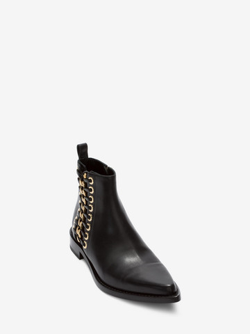 ALEXANDER MCQUEEN Braided Chain Ankle Boot Braided Chain Boot D r