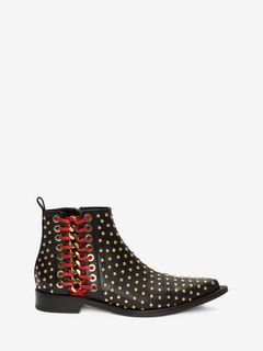 ALEXANDER MCQUEEN Braided Chain Boot D Braided Chain Ankle Boot f