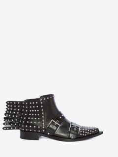 Fringed Braided Chain Ankle Boot