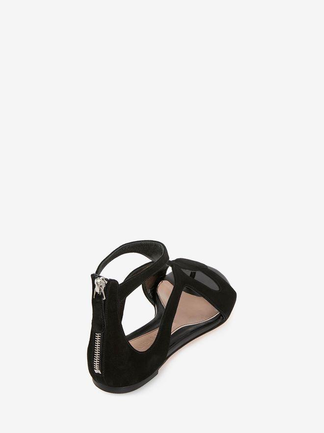 ALEXANDER MCQUEEN Caged Flat Sandal Sandals D d
