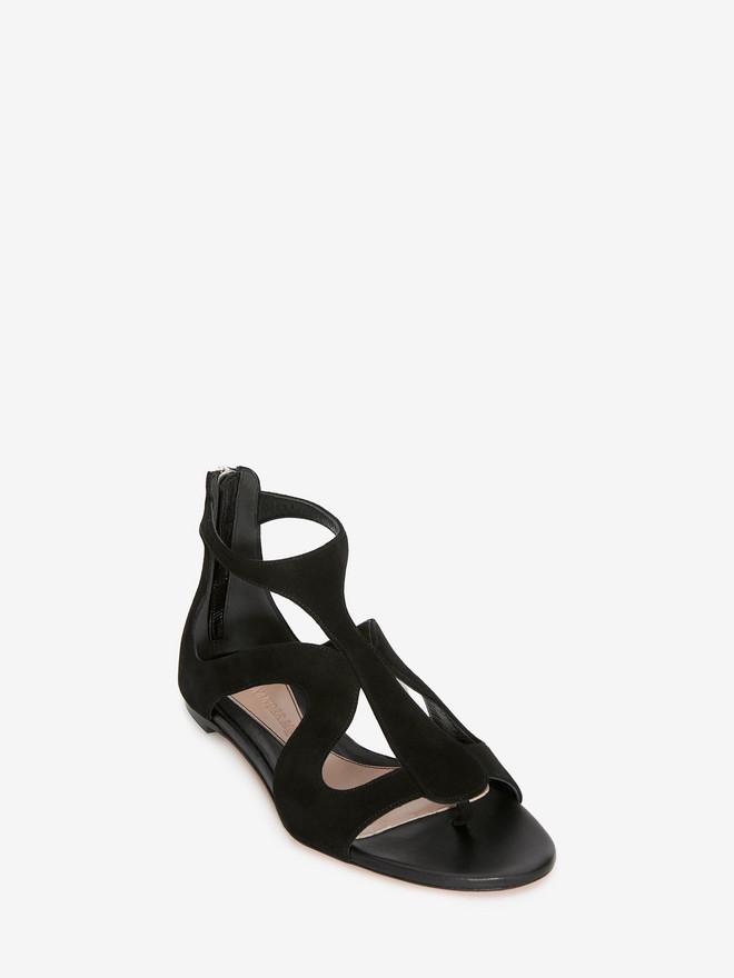 ALEXANDER MCQUEEN Caged Flat Sandal Sandals D r