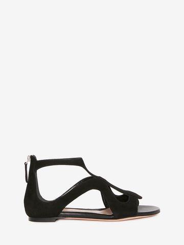 ALEXANDER MCQUEEN Caged Flat Sandal Sandals D f
