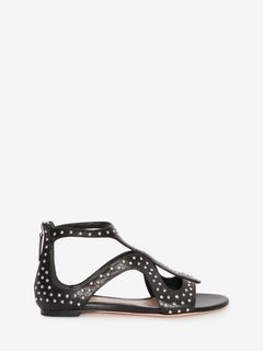 Caged Flat Sandal Hammered studs