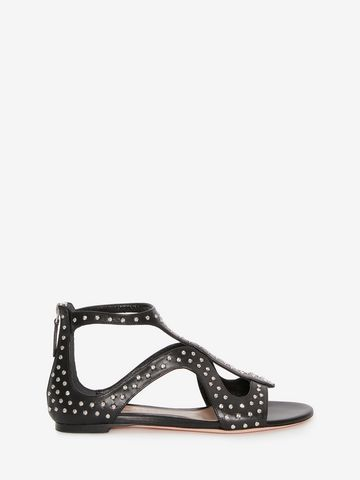 Alexander McQueenCaged Flat Sandal with Hammered Studs hw1NEOsB