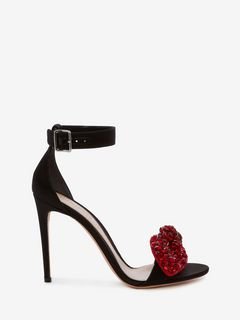 ALEXANDER MCQUEEN BOW SANDAL Woman Bow Embroidered Sandal f