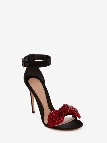 ALEXANDER MCQUEEN Bow Embroidered Sandal BOW SANDAL Woman r