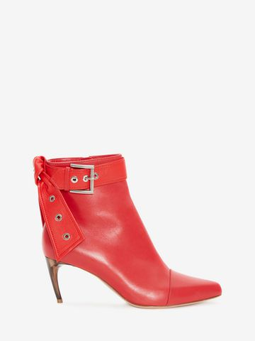Alexander McQueen Horn Heel booties outlet shop for with mastercard online EV53nuA