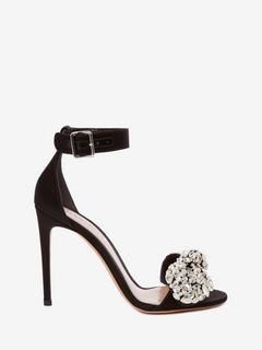 ALEXANDER MCQUEEN Sandals D Bow Embroidered Sandal f