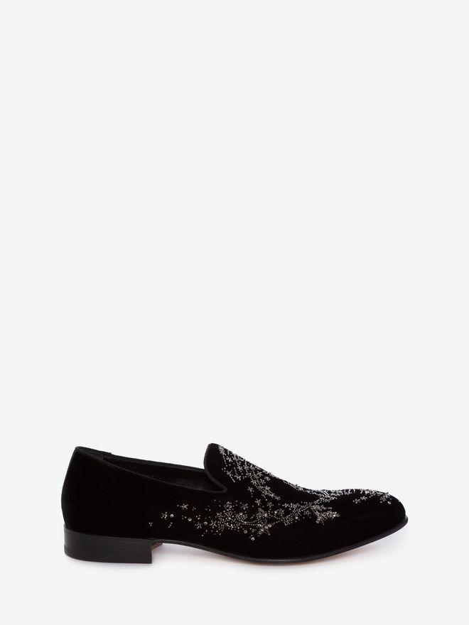 ALEXANDER MCQUEEN Embroidered Slipper Slippers Man f