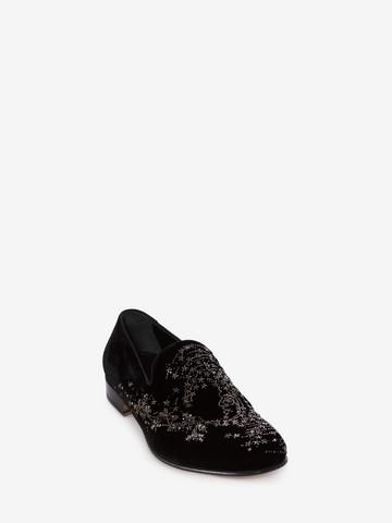 ALEXANDER MCQUEEN Embroidered Slipper Slippers Man r