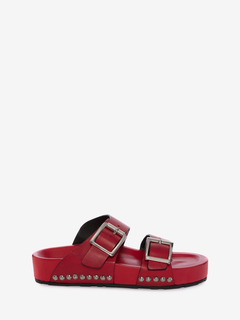 Red Strap Sandals