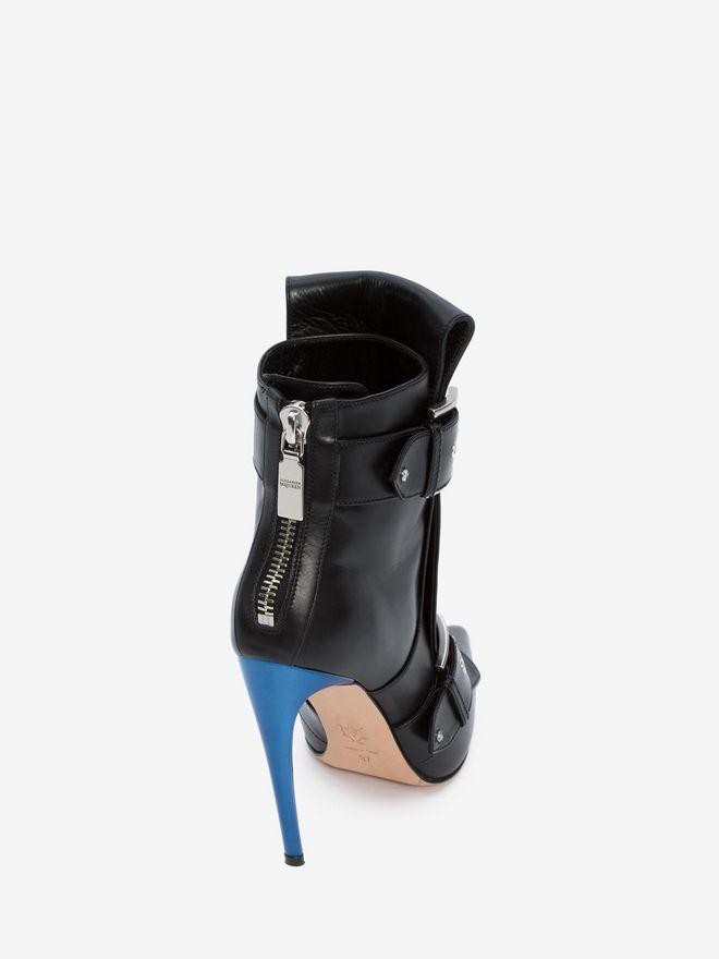 ALEXANDER MCQUEEN Double Buckle Horn Heel Boot DOUBLE BUCKLE HIGH HEEL BOOT Woman d