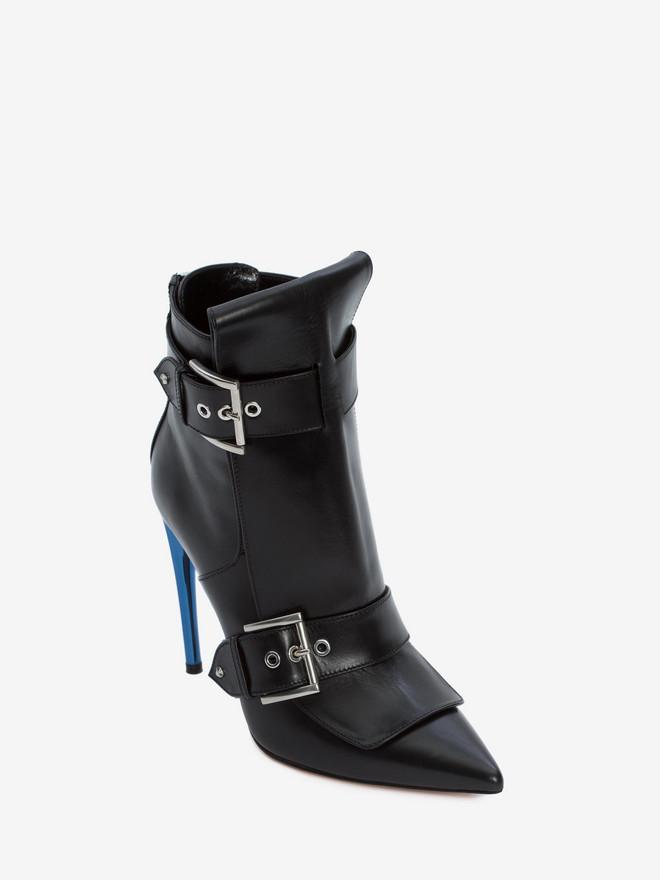 ALEXANDER MCQUEEN Double Buckle Horn Heel Boot DOUBLE BUCKLE HIGH HEEL BOOT Woman r